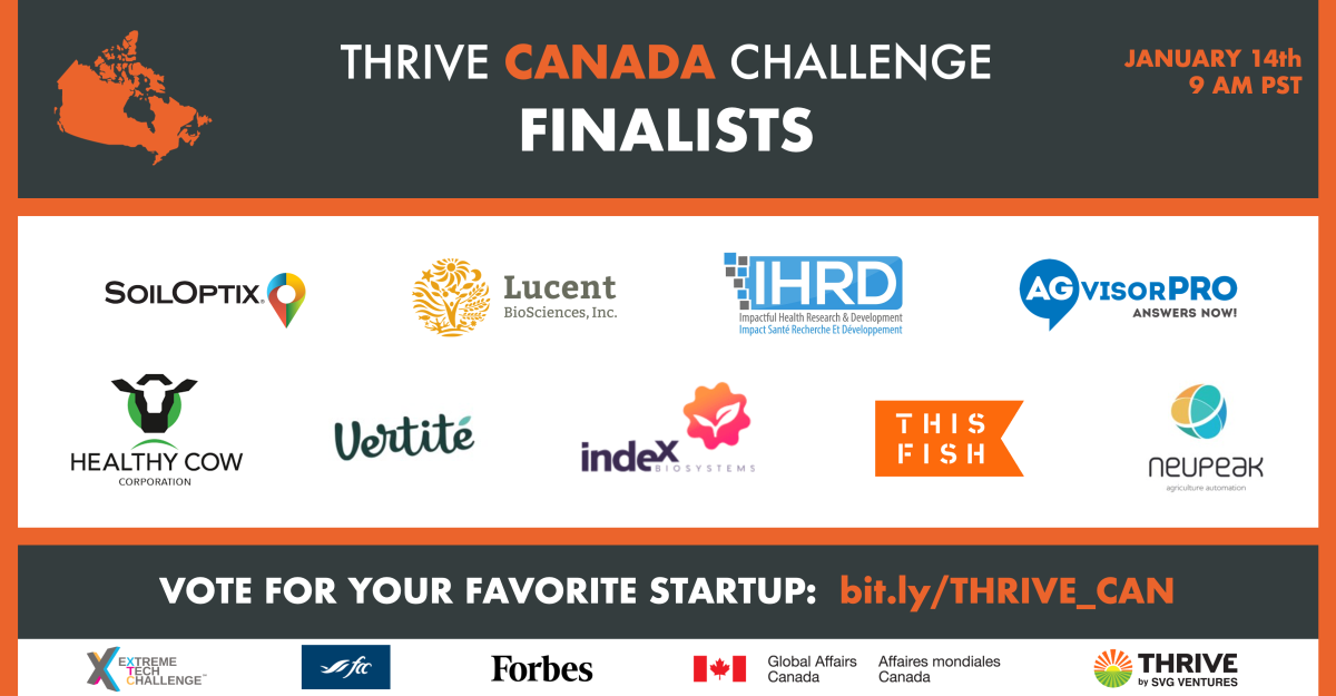 AgTech and FoodTech Thrive Canada Challenge